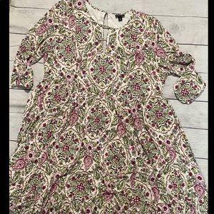TORRID Boho floral Maxi Soft knit dress Plus 2